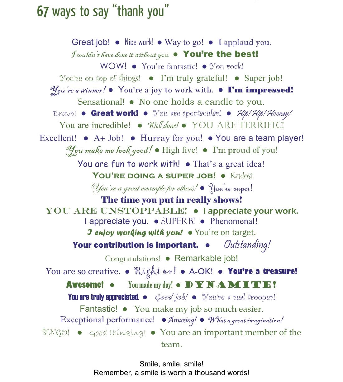 ways to say thank you speak english salon